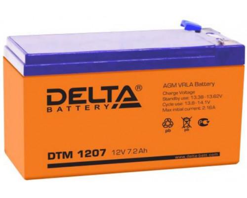 Аккумуляторная батарея Delta DTM 1207 (12V / 7.2Ah)