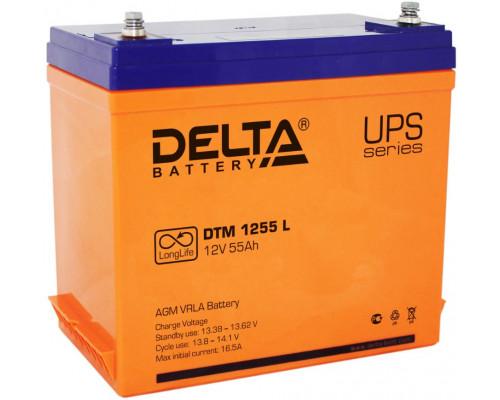 Аккумуляторная батарея Delta DTM 1255 L (12V / 55Ah)