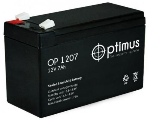 Аккумуляторная батарея OPTIMUS OP 1207 (12V / 7 Ah)