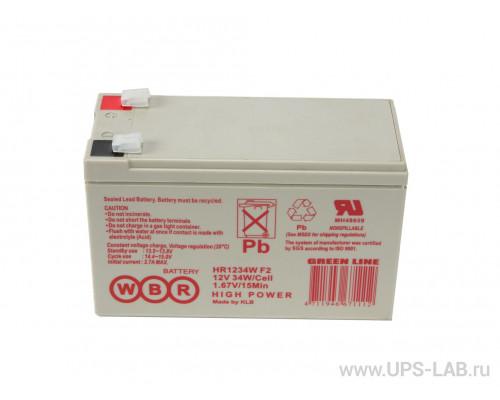 Аккумуляторная батарея WBR HR 1234W F2 (12V / 34W)