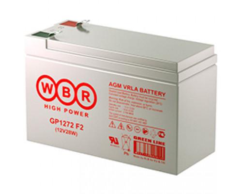 Аккумуляторная батарея WBR GP 1272 F2 (12V / 7.2Ah)